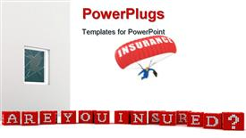 Concept Are you Insured on white background. High quality render powerpoint design layout