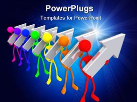 Concept And Presentation Figure in 3D powerpoint theme