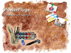 Art tools powerpoint design layout