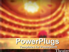 PowerPoint template displaying classic theatre design in the background.