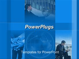 PowerPoint template displaying a number of people doing various activities