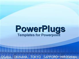 Major cities of industry in Japan powerpoint theme