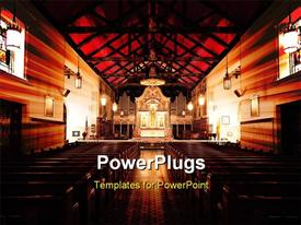Nave of St. Augustine cathedral with beautiful wooden structure powerpoint design layout