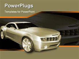 PowerPoint template displaying chevrolet Cameron Concept Car in the background.
