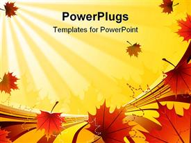 PowerPoint template displaying orange autumn background