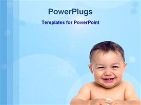 PowerPoint template displaying baby after bath