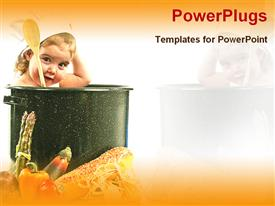PowerPoint template displaying baby chef