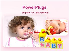 PowerPoint template displaying cute babies