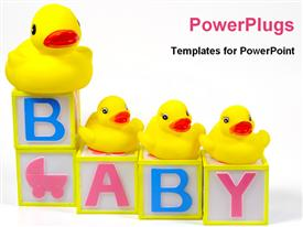 PowerPoint template displaying cute baby blocks
