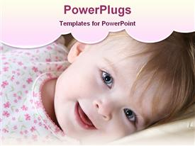PowerPoint template displaying cute baby girl