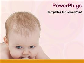 PowerPoint template displaying naughty baby