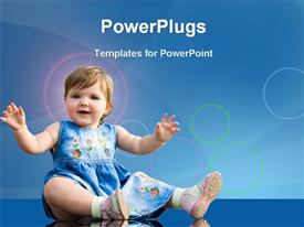 PowerPoint template displaying pretty one year baby