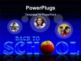 PowerPoint template displaying back to school in the background.