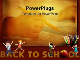 PowerPoint template displaying back to School background