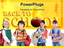 Back to School background powerpoint template