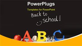 Back to school concept with ABC letters and blackboard powerpoint template
