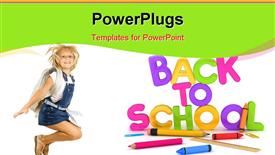 PowerPoint template displaying back to School Items