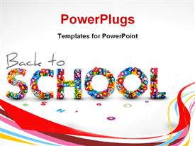 PowerPoint template displaying a representation of back to school with white background