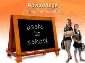Blank chalkboard or blackboard on a white background with copy space template for powerpoint