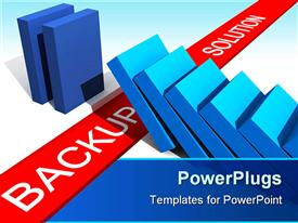 PowerPoint template displaying fine 3D metaphoric depiction show the utility of backup