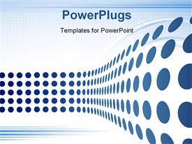 PowerPoint template displaying abstract patterned design with blue polka dots