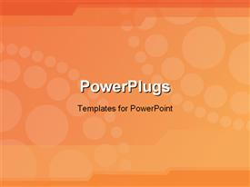 PowerPoint template displaying white patterned circles of different sizes form larger circle on orange background