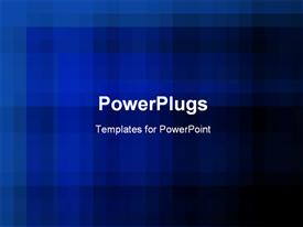 PowerPoint template displaying a plain clear blurry blue and black background tile