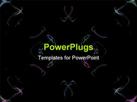 PowerPoint template displaying a plain dark background with images like smoke in different colors