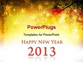 PowerPoint template displaying grunge background with 2013 element for design - New Year background