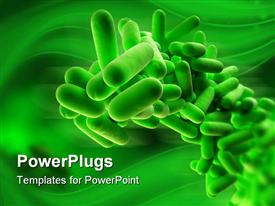 Close up of isolated bacteria powerpoint template