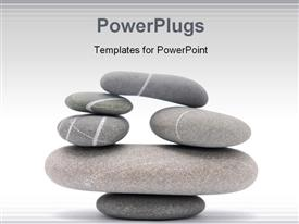 PowerPoint template displaying balancing stones