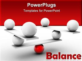 PowerPoint template displaying various number of balls placed on slides in a balanced form