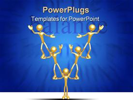 Concept And Presentation Figure in 3D powerpoint design layout