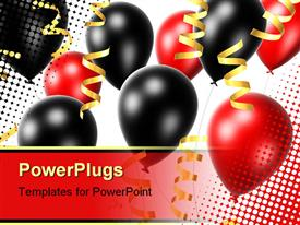 Balloons and ribbons powerpoint theme