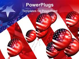 Patriotic balloons 3D template for powerpoint