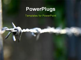Macro shot of barbed wire powerpoint theme