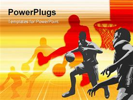 Basketball Art powerpoint template