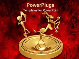 Concept & presentation figure 3D template for powerpoint