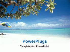 PowerPoint template displaying beautiful view of a sea beach