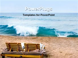 Cabana's on the beach Maui template for powerpoint