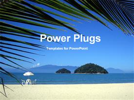 PowerPoint template displaying sea beach and island