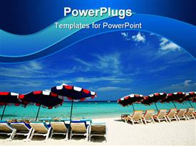 Sea chair at beach in Thailand holiday powerpoint theme