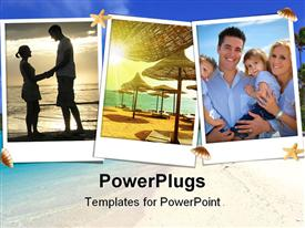 View of the beautiful Beach scenery powerpoint template