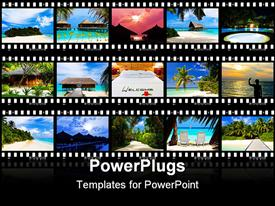 Frames of film - nature and travel (my photos) powerpoint theme