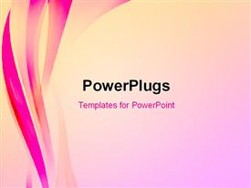 PowerPoint template displaying abstract elegant background with pink waves