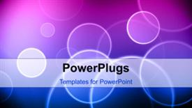 PowerPoint template displaying abstract beautiful background