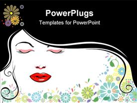 PowerPoint template displaying women Beauty