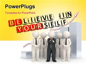 Believe in Yourself text powerpoint theme