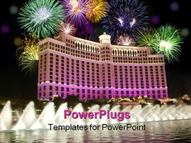 Bellagio fountains powerpoint design layout