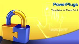 Lock padlock security password safeguard. System access icon concept. P powerpoint design layout